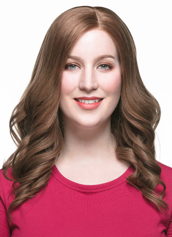 Alyssa Medium-Length Loose Waves European Hair Wig EEW002