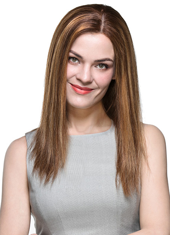 Beth Medium-Length Indian Hair Wig EFS003