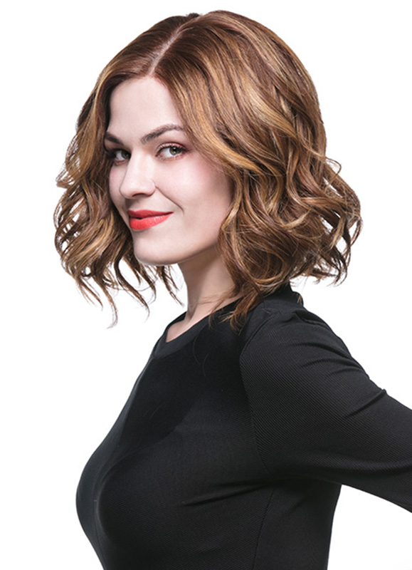 Jessie Short Modern Wavy Bob Indian Hair Wig EFB001