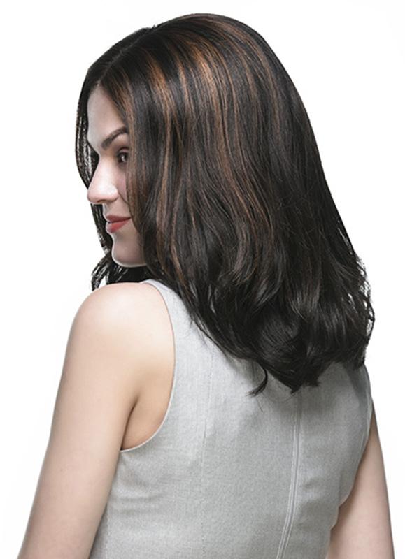 Sonya Mid Length Loose Wavy Indian Hair Wig Efw002 Efw002
